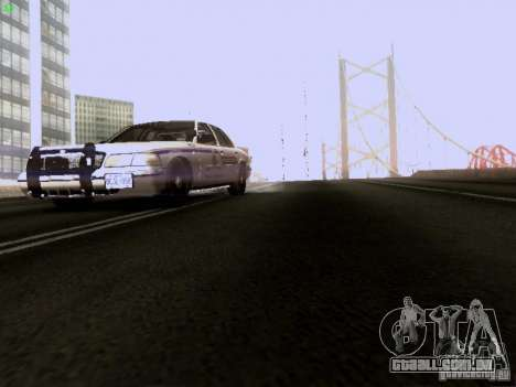 Ford Crown Victoria Canadian Mounted Police para vista lateral GTA San Andreas