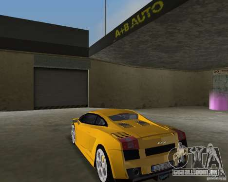 Lamborghini Gallardo v.2 para GTA Vice City deixou vista