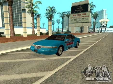 Lincoln Mark VIII 1996 para GTA San Andreas vista interior