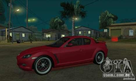 Luzes de néon vermelhas para GTA San Andreas por diante tela