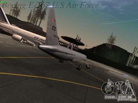 Boeing E-767 U.S Air Force para GTA San Andreas vista traseira