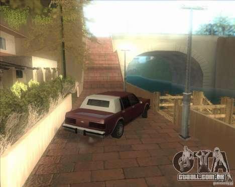 Minhas configurações ENBSeries HD para GTA San Andreas por diante tela