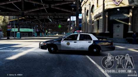 CVPI LCPD San Diego Police Department para GTA 4 esquerda vista