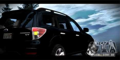 Subaru Forester XT 2008 para GTA San Andreas vista inferior
