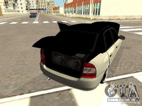 Lada Kalina para GTA San Andreas vista traseira