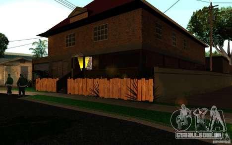 Nova casa na Grove Street CJ para GTA San Andreas segunda tela