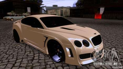 Bentley Continental GT Premier 2008 V2.0 para vista lateral GTA San Andreas