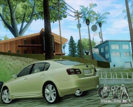 Lexus GS450h 2011 para GTA San Andreas esquerda vista