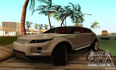 Land Rover Range Rover Evoque para GTA San Andreas esquerda vista