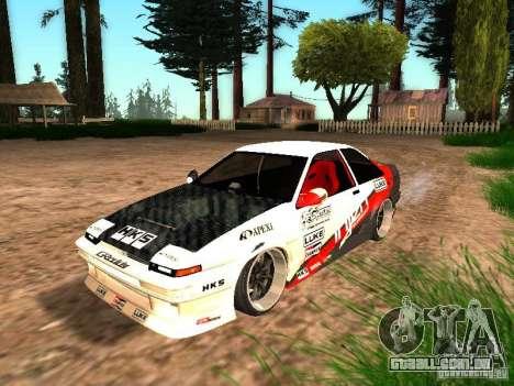 Toyota AE86 Coupe para GTA San Andreas