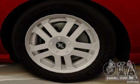 Ford Mustang 2010 para vista lateral GTA San Andreas