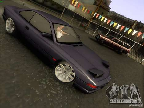 BMW 850 CSI para vista lateral GTA San Andreas