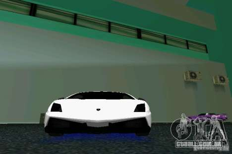 Lamborghini Gallardo LP570 SuperLeggera para GTA Vice City vista interior