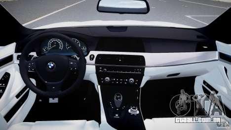 BMW M5 F10 2012 M Stripes para GTA 4 vista direita