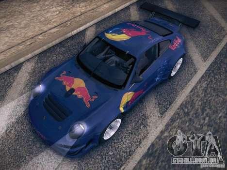 Porsche 997 GT3 RSR para GTA San Andreas vista superior