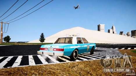 Dodge Diplomat 1983 Police v1.0 para GTA 4 traseira esquerda vista