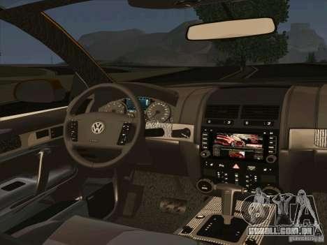 Volkswagen Passat B6 Variant para GTA San Andreas vista traseira