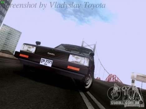 Toyota Corolla TE71 Coupe para GTA San Andreas vista traseira