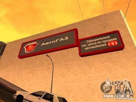 Gaz para GTA San Andreas segunda tela