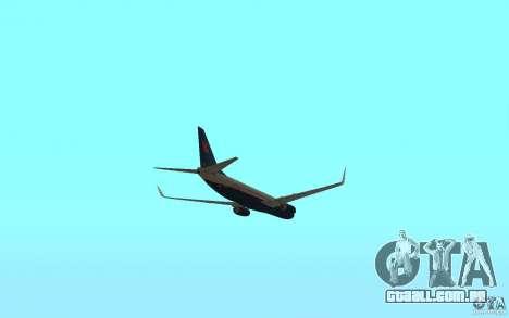 Boeing 737-800 para GTA San Andreas vista interior