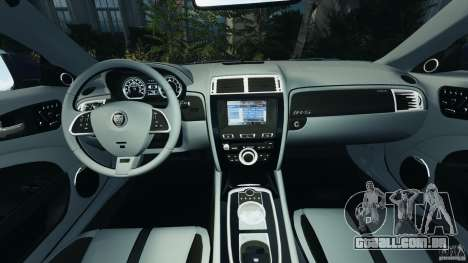 Jaguar XKR-S Trinity Edition 2012 v1.1 para GTA 4 vista de volta