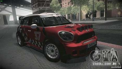Mini Countryman WRC para GTA San Andreas vista traseira