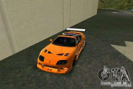 Toyota Supra Fast and the Furious para GTA Vice City deixou vista