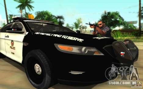 Ford Taurus 2011 LAPD Police para GTA San Andreas vista inferior