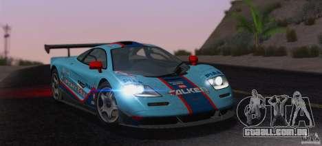 McLaren F1 JGTC Tuning 1995 para GTA San Andreas interior