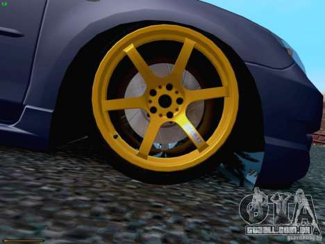 Mazda Speed 3 para vista lateral GTA San Andreas