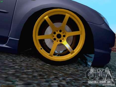 Mazda Speed 3 para vista lateral GTA San Andreas
