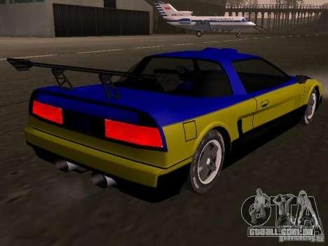 Infernus v 1.2 para GTA San Andreas esquerda vista
