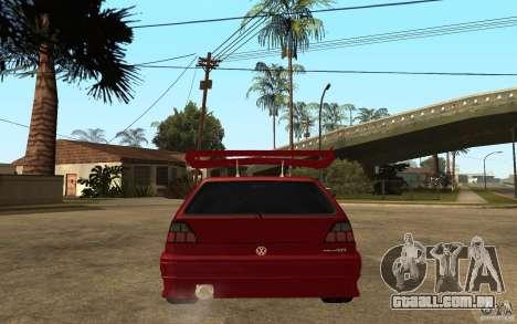 Volkswagen Golf 2 GTI Tuned para GTA San Andreas traseira esquerda vista