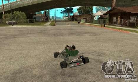 Stage 6 Kart Beta v1.0 para GTA San Andreas traseira esquerda vista