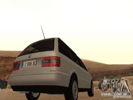 Volkswagen Passat B4 para GTA San Andreas vista traseira