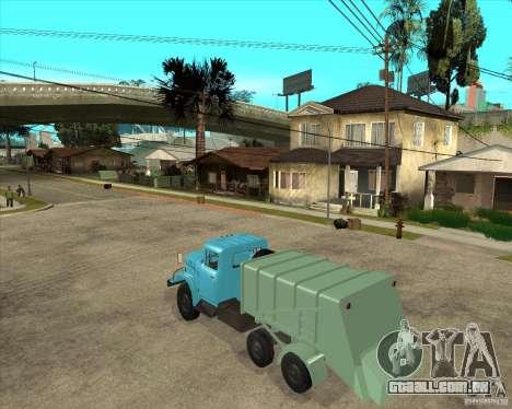 Caminhão de lixo ZIL-131 para GTA San Andreas esquerda vista