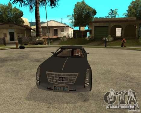 Cadillac Sixteen para GTA San Andreas vista traseira