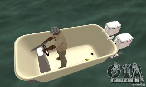 Bathtub Dinghy para GTA San Andreas