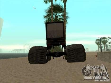 Reboque para caminhão Monsterous para GTA San Andreas traseira esquerda vista