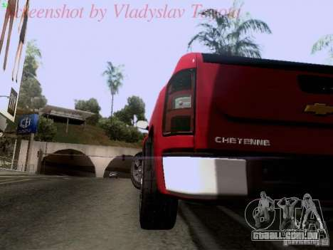 Chevrolet Cheyenne Single Cab para GTA San Andreas vista interior