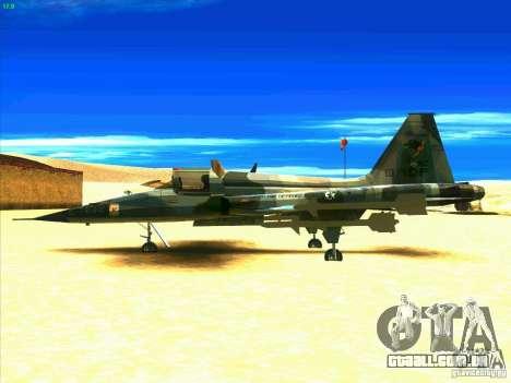 F-5E Tiger para GTA San Andreas esquerda vista