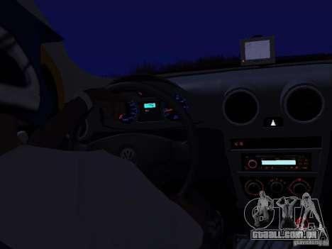 Volkswagen Gol Rallye 2012 para GTA San Andreas vista direita