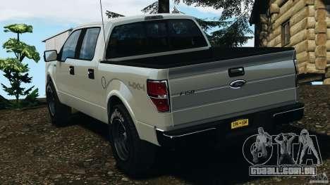 Ford F-150 v1.0 para GTA 4 traseira esquerda vista