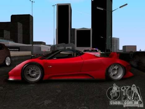 Pagani Zonda EX-R para GTA San Andreas vista direita
