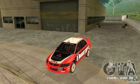 Mitsubishi Lancer Evolution IX para GTA San Andreas vista inferior