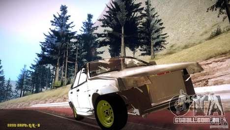 Hobo Vaz 21099 para GTA San Andreas vista traseira