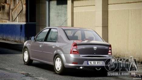 Dacia Logan v1.0 para GTA 4 traseira esquerda vista