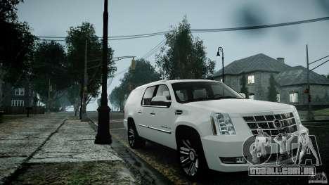Cadillac Escalade ESV para GTA 4 vista de volta