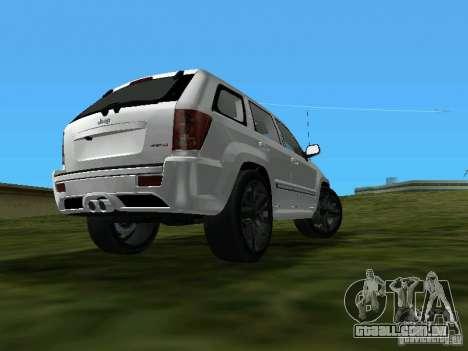 Jeep Grand Cherokee SRT8 TT Black Revel para GTA Vice City deixou vista