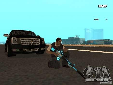 Black & Blue guns para GTA San Andreas quinto tela
